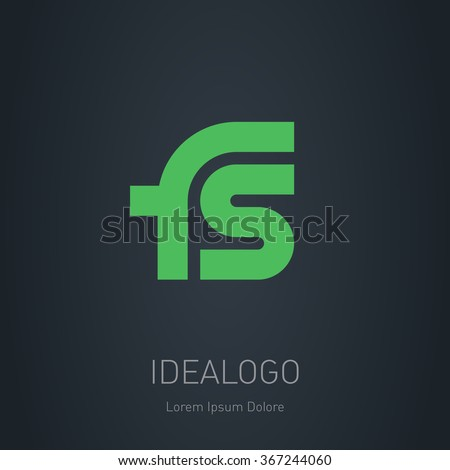 FS initial logo. FS initial monogram logotype. Vector design element or icon.