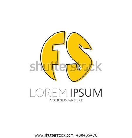 fs logo vector graphic sphere