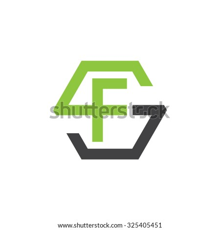fs sf initial logo  hexagon s