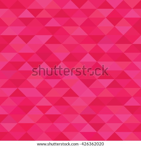 Fuchsia triangle geometric pattern. Hot pink background polygonal texture.