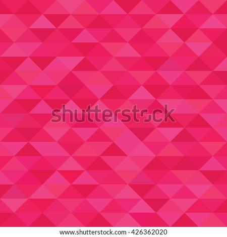 Fuchsia triangle geometric pattern. Hot pink background polygonal texture.
