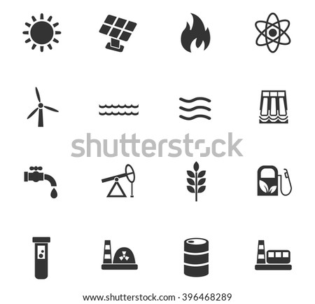 fuel and power web icons for