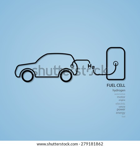 fuel cell car filling hydrogen