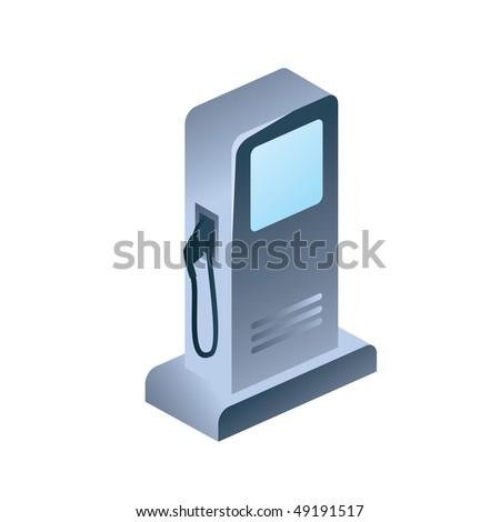 fuel column - vector illustration