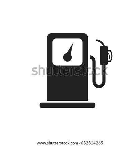 Fuel gas station icon. Car petrol pump flat illustration.
