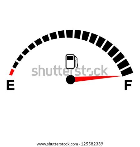 fuel gauge full on white