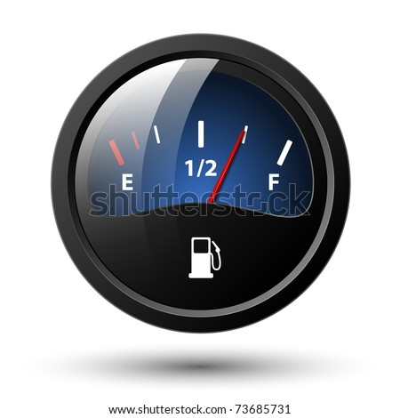 Fuel gauge icon. Vector illustration - stock vector