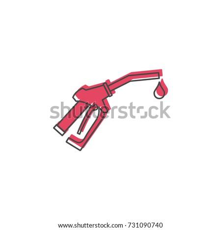 fuel gun icon doodle