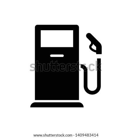 Fuel Icon Vector. Simple flat symbol. Perfect Black pictogram illustration on white background Photo stock ©