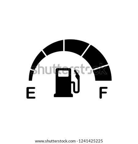 fuel indicator icon vector