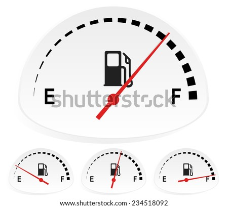 fuel indicators set at 4 stages