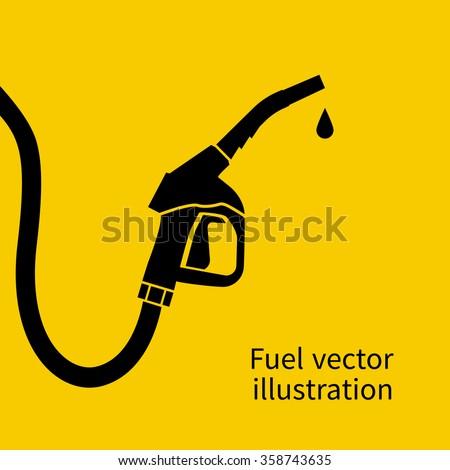 Fuel pump icon. Petrol station sign. Gas station sign. Gasoline pump nozzle. Fuel background. Vector illustration. Gasoline pump with drop.