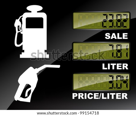 Fuel pump price label set