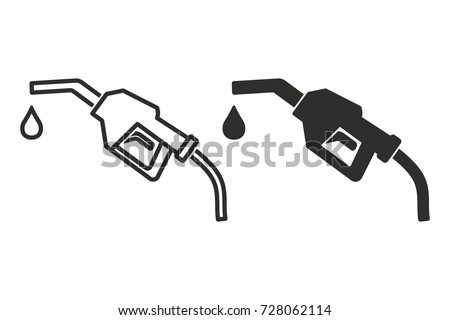 Fuel vector icon. Black illustration isolated on white background for graphic and web design.