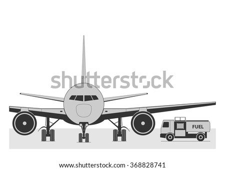 fueling the plane vector