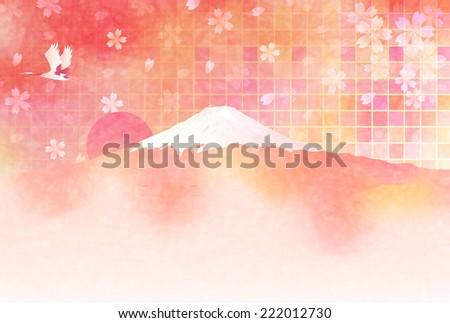 Fuji cherry greeting cards