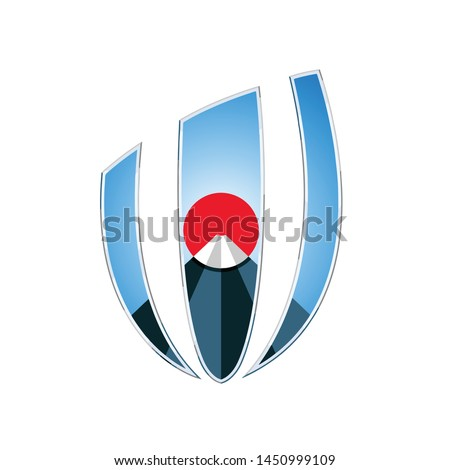 Fuji mount Japan icon logo vector template