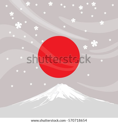 Fujiyama is a symbolic of Japan. Japanese people believe they are son of the sun.