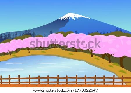 fujiyama mountain landscape