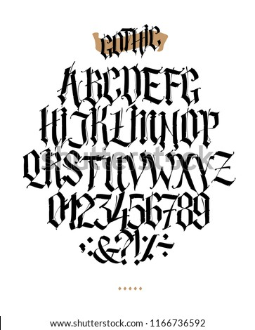 full alphabet in the gothic