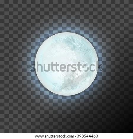 full blue moon on the dark
