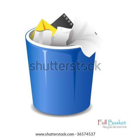 Full bucket icon isolated. Vector illustration - stock vector