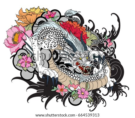 Koi Coloring Tattoo Style Vector - Download Free Vector Art, Stock ...