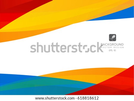 full color background with wavy shapes