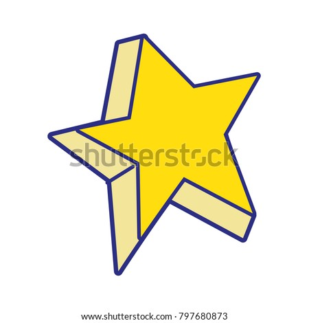 full color cute bright star art