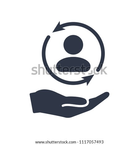 Full customer care service - Minimal Personal qualities icon. Full customer protection. Personal service offering. Icon, inclusion, service, buyer, full, guest, offer, personal, account, client, symbo
