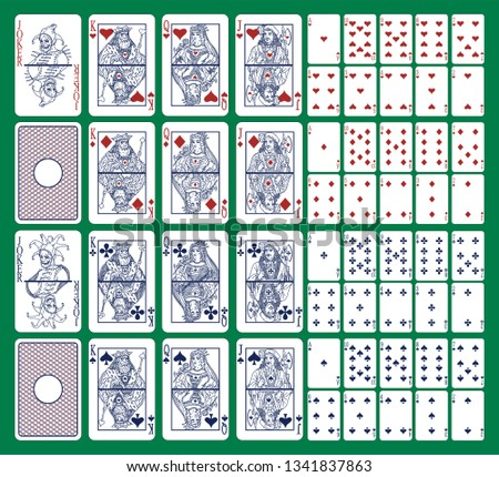 full deck 52 playing cards