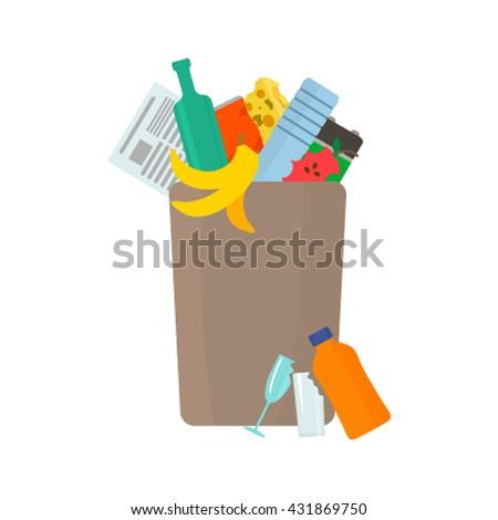 full garbage an urn debris