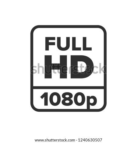 Full HD 1080p symbol