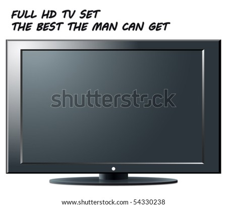 Full HD TV set - an illustration for your design project.