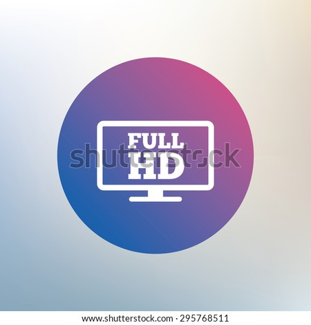 full hd widescreen tv sign icon