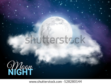 full moon against the