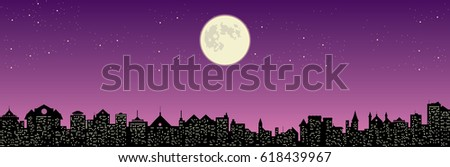 full moon and beautiful night