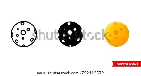 full moon icon of 3 types