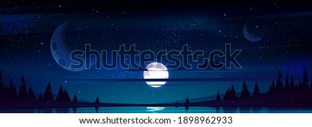 full moon in night sky with