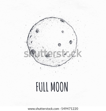 full moon in outer space with