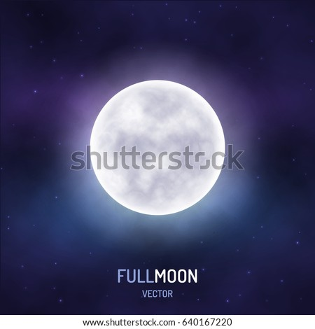 full moon in the night starry