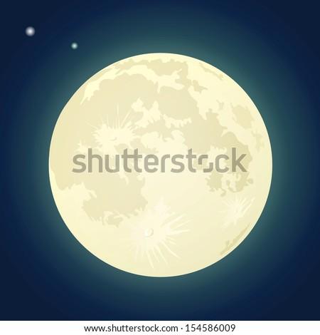 full moon on a dark blue sky
