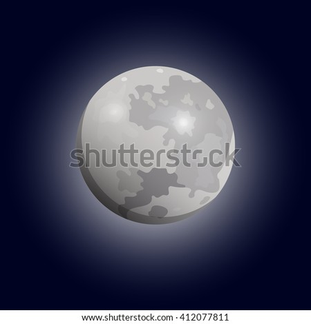 full moon seen with a telescope
