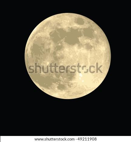 full moon vector - stock vector