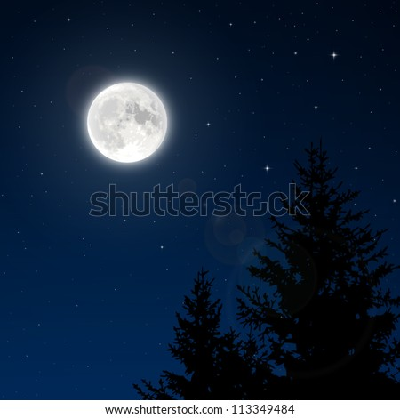 full moon with lens flare vector