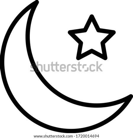 full moon with star concept