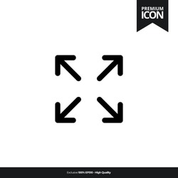 Full screen black color of flat simple icon. illustration vector of mobile application. Modern style of design. Line single minimalistic sign
