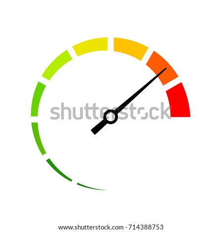 Full speed vector icon illustration isolated on white background