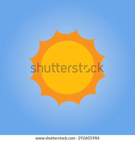 full sun  the full orange sun