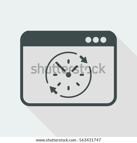 Full time web service - Vector flat icon